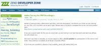 Adobe Survey for PHP Develoeprs